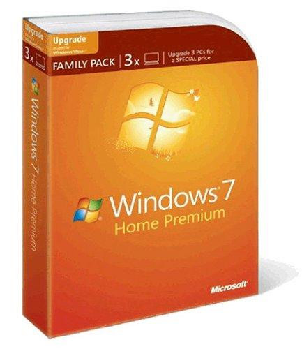 Windows 7 Home Premium (3 Lizenzen) Upgrade Family Pack inkl. Lieferung 94,90€ !