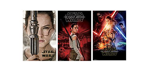 Trends International Wall Poster Star Wars the Force Awakens Rey Collector's Bundle, 22.375