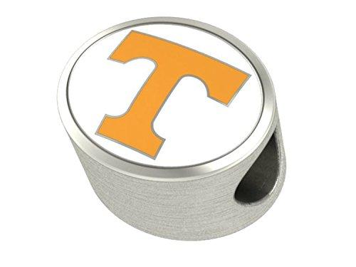 Tennessee Volunteers Enameled Charms Fit Most European Style Charm Bracelets (Volunteers Tennessee Charm)
