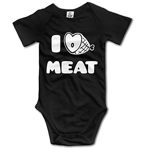 Meat Suit Costume (Infants Boy's & Girl's I LOVE MEAT Short Sleeve Bodysuit Outfits For 6-24 Months)