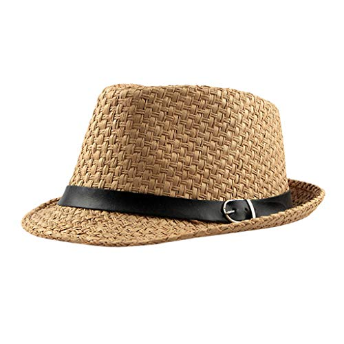 Men Small Top Hat  Cool Trilby Hat & Stylish Outdoor Simple Visor Summer Sunscreen Breathable Straw Hat