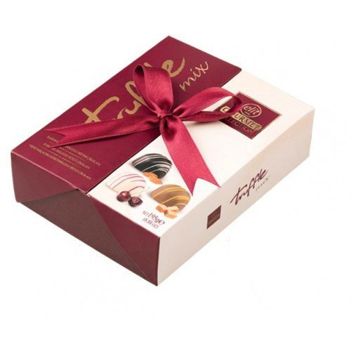 Premium Turkish Chocolate Truffle Mix - Elit Gourmet Collection 195g Gift Box - Rich Almond Cream in Dark Chocolate, Sweet Caramel Filling in Milk Chocolate, Cherry Fruit Filling in White Chocolate (Gourmet Gifts Delivered)