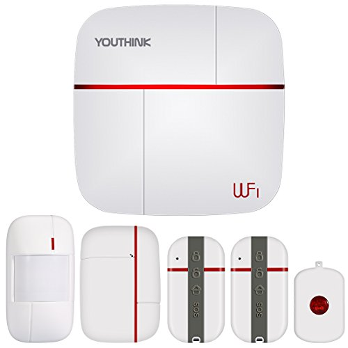 【CLEARANCE SALE】Wireless GSM Home Security Alarm System,YOUTHINK DIY Burglar Alarm Kit with PIR Detector,Window Door Sensor,Medical SOS System,Remote Controller,Android IOS APP(System kit)