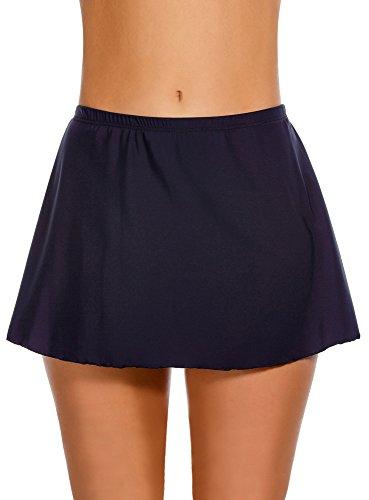 Miraclesuit Women's Swimwear Skirted Swim Pant Tummy Control Slimming Bathing Suit Bottom, Midnight, 12