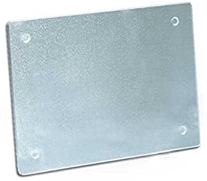 Clear Cutting Board - 8 x 11 Inches - Durable Textured Acrylic Protector With Non Slip Feet - Made in the USA