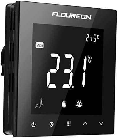 Thermostat Heizung Raumthermostat digitaler Wandthermostat programmierbar Raumtemperaturregler für elektrische Fussbodenheizung Wandheizung mit großer LCD-Bildschirm 230V 16A unterputz