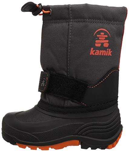 Pictures of Kamik Boys' ROCKETW Snow Boot, Charcoal/Flame, 8 Wide US Toddler 5