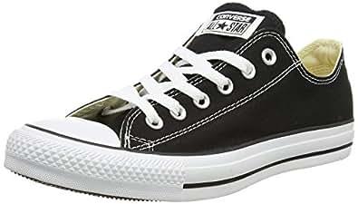 Converse Chuck Taylor Core Lea Ox, Zapatillas De Cuero Unisex Adulto, Negro, 36 EU