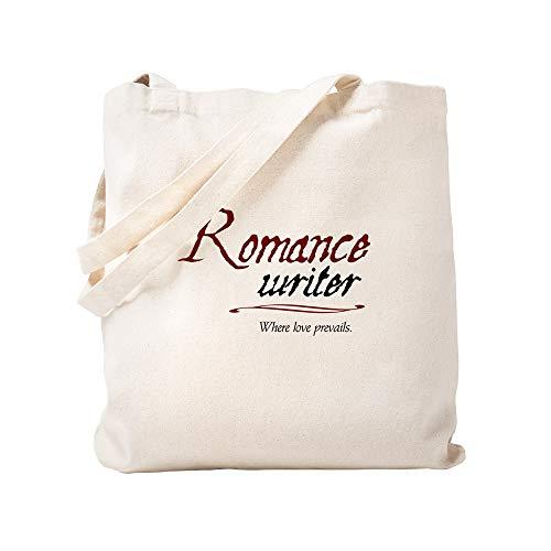 CafePress Romance Writer Where Love Pre Natural Canvas Tote Bag, Cloth Shopping Bag