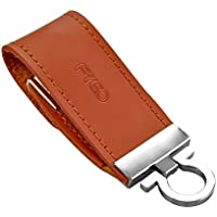 FYEO Encrypted Copy Protection USB Flash Drive Professional Edition 32GB USB 2.0 Anti Copy Anti Spy Anti Trojan Key Chain Leather USB Stick Pen Drive with AES 256-Bit Crypto (Brown)