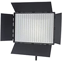 Fovitec  StudioPRO - 1x Bi Color 1200 LED Panel w/ Barndoors - [Continuous][Adjustable Lighting][V-Lock Compatible][Stands Sold Separately]
