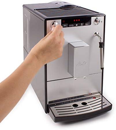 Melitta Machine à Café et Boissons Chaudes Automatique, Buse Vapeur, Caffeo Solo & Milk, Argent, E953-102