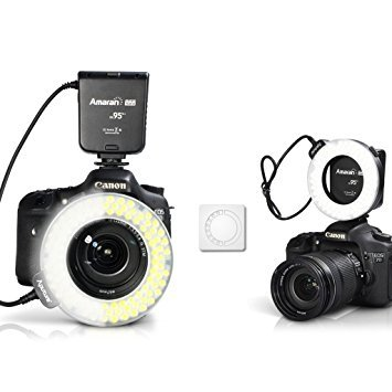 - Aputure Amaran Halo AHL-HC100 CRI 95+ LED Macro Ring Flash Light for Canon DSLR Camera