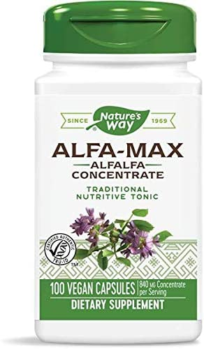 Natures Way Alfa Max Concentrate, 525 milligrams per Capsule, 100 Vegetarian Capsules