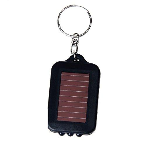 (HighlifeS LED Light,Waterproof IPX4 Portable Super Mini Light LED Flashlight Key Ring Torch 3 LED Keychain Lamp (Black))