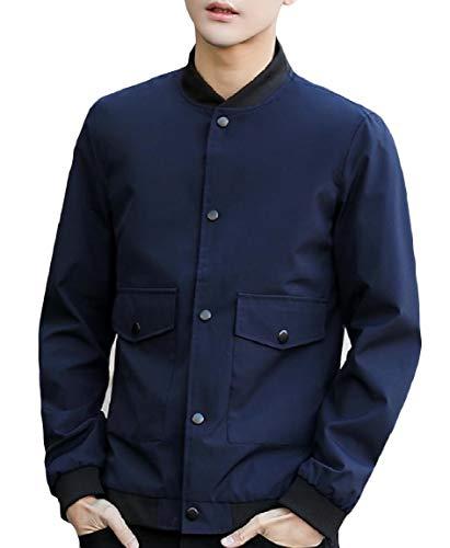 Pocket Pattern5 Long Sleeve Oversized Splice Outwear Collar Jacket Stand MogogoMen Lounge wRBa55