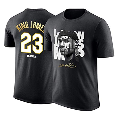 LXYFMS Short-Sleeved Knight Creative T-Shirt Sports Basketball Training Suit Sweat-Absorbent Breathable T-Shirt (Size : XL)