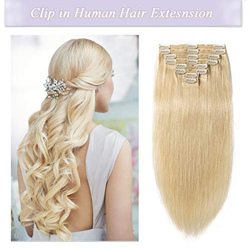 Clip-in Full Head Full Shine Clip In Remy Hair Extensions Seamless Skin Weft Clip In Medium Brown Extensions Color#4 8pcs 100g Clip In Thick Hair