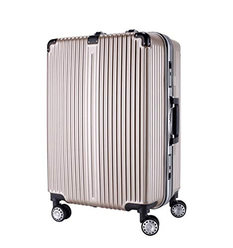 GaoMiTA Abs Trolley case Universal Wheel Student Suitcase Male Password Box Female Suitcase Luggage Color : Rose Gold, Size : 26