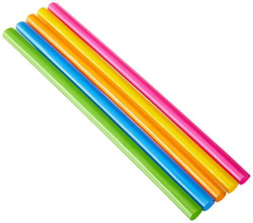 (Party Bargains Smoothie Straws | BPA-Free & Reusable Assorted Bright Colors Drinking Straw | Perfect for Milkshake, Boba, Juices & More | Jumbo Pack 100 Counts)