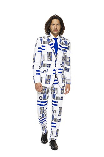 Mens R2-D2 Suit and Tie By Opposuits, R2-d2, (Green Stormtrooper Costume)