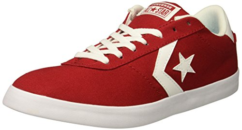 Converse Men's Point Star Canvas Low Top Sneaker, Gym Red/Gym Red/White, 12 M US (Star Low Shoes)