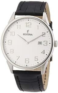 Festina F16518/2 - Reloj analógico de cuarzo para hombre con correa de piel, color negro