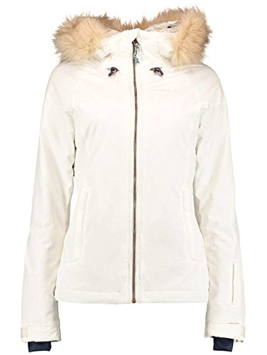 O Neill Curve Womens Snowboard Jacket Medium Birch (Oneill Snowboard Jackets)
