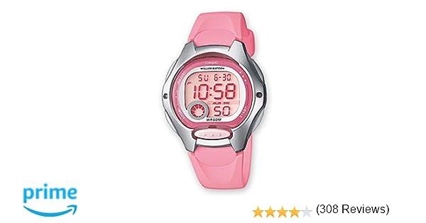 e4c04f74d9fb Casio Reloj Digital para Mujer de Cuarzo con Correa en Resina LW-200-4BVEF   Amazon.es  Relojes