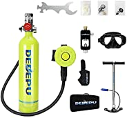 1L Mini Scuba Tank Dive Cylinder, Scuba Diving Tank Equipment with 15-20 Minutes, Oxygen Underwater Breathing
