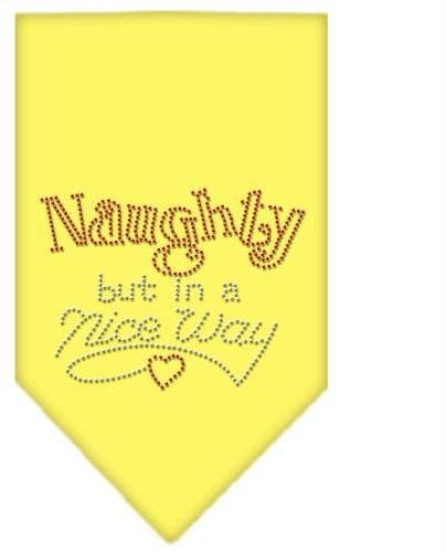 Naughty but in a Nice Way Rhinestone Bandana Yellow Large Case Pack 24 Naught... by DSD