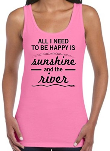 All I Need to be Happy is Sunshine and The River Juniors Tank Top Large Azla