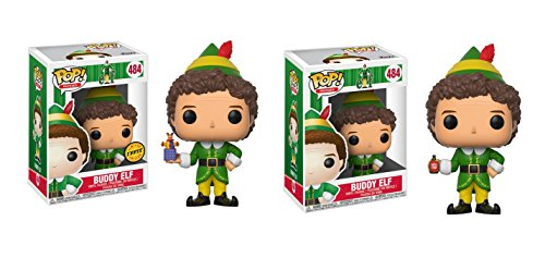 Funko POP! Buddy Elf LIMITED EDITION CHASE and Buddy Elf NON CHASE Toy Action Figure - 2 POP BUNDLE
