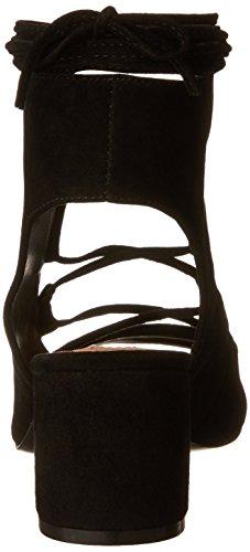 Steve Madden Womens Admire Heeled Sandal Black Suede