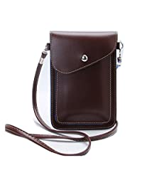 Tibes Mini PU Leather Cross-Body Bag Cellphone Purse Small Wallet Bag