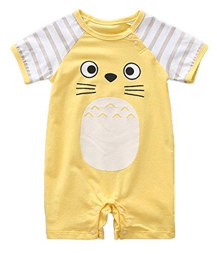 stylesilove Adorable Unisex Baby Totoro Short Sleeve Cotton Romper (59/3-6 Months, Yellow) -