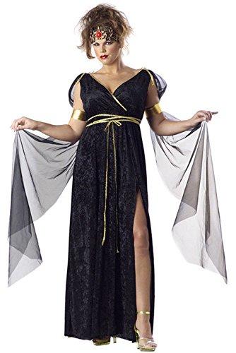 Mememall Fashion Medusa Plus Size Costume Roman Greek Goddess (Greek Goddess Plus Size Costume)