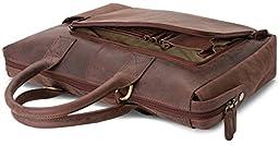 LEABAGS Pittsburgh genuine buffalo leather handbag in vintage style - Nutmeg