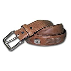 John Deere Men's Concho Ornamented Casual Belt,Brown,40