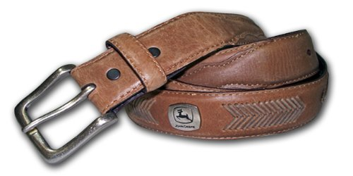 John Deere Men's Concho Ornamented Casual Belt,Brown,40