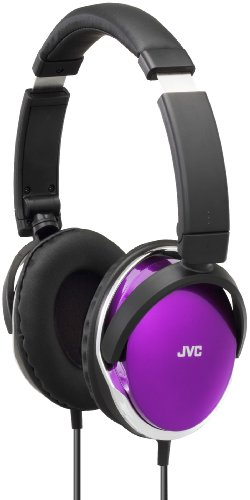 JVC HAS660W On-Ear Headphones, Violet