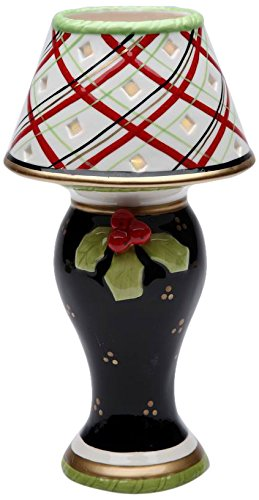 - Appletree Design 40203 Holiday Tea Light Lamp, 4-1/2 by 8-3/8 by 4-1/2-Inch