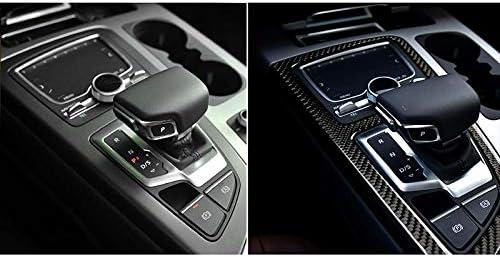 Cratone Auto Shifter Rahmen Trim Zubeh/ör Geschwindigkeit Schaltknauf Dekorationsleiste Gangschaltung Panel Aufkleber Carbonfaser,f/ür Audi Q7 2016-2018