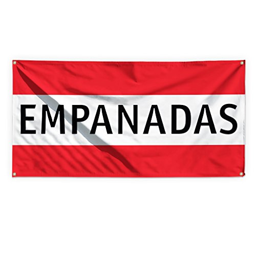 Empanadas #2 Outdoor Advertising Printing Vinyl Banner Sign With Grommets - 2ftx3ft, 4 Grommets by Sign Destination