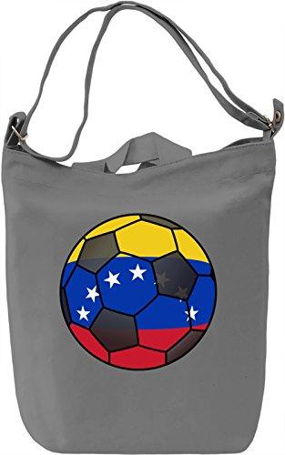 Venezuela Football Borsa Giornaliera Canvas Canvas Day Bag| 100% Premium Cotton Canvas| DTG Printing|