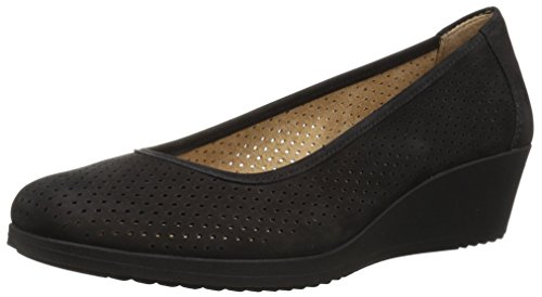 Naturalizer Women's Betina 2 Pump, Black Tumbled, 9.5 W (Naturalizer Wedge Shoes)