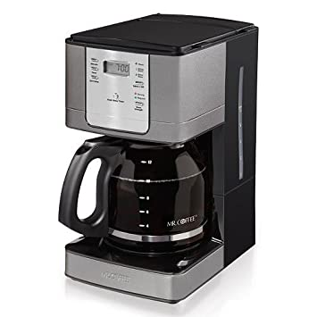 Mr. Coffee 12 Cup Programmable Coffee Maker with Auto Pause, Stainless Steel