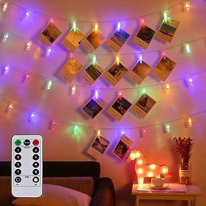 Amazon.com: Magnolora - Cadena de luces LED para fotografía ...