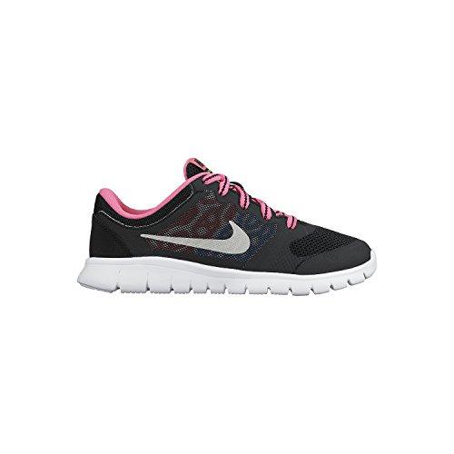 Blue Flex Kids' Nike Shoes Pink Multisport Gs Photo Run Silver Black Unisex Pow Metallic Indoor 2015 OxURX