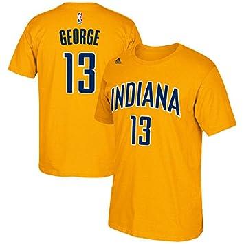 Adidas Paul George Indiana Pacers NBA Amarillo Juventud Nombre y número Camiseta, Infantil, Amarillo